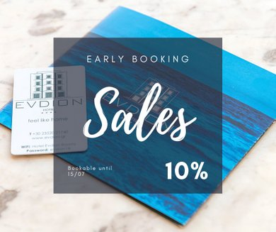 Early Booking Discount - High Season